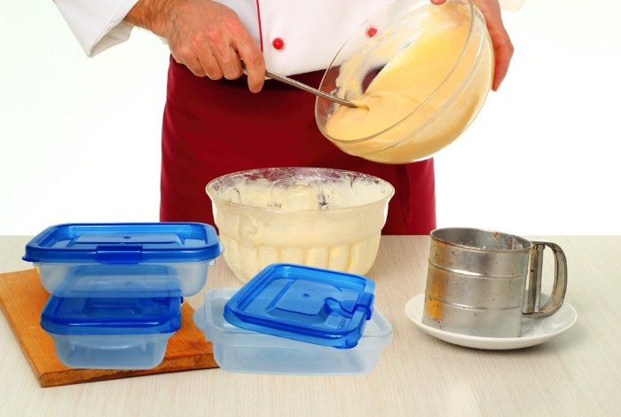 Freeze Cake Batter in Containers