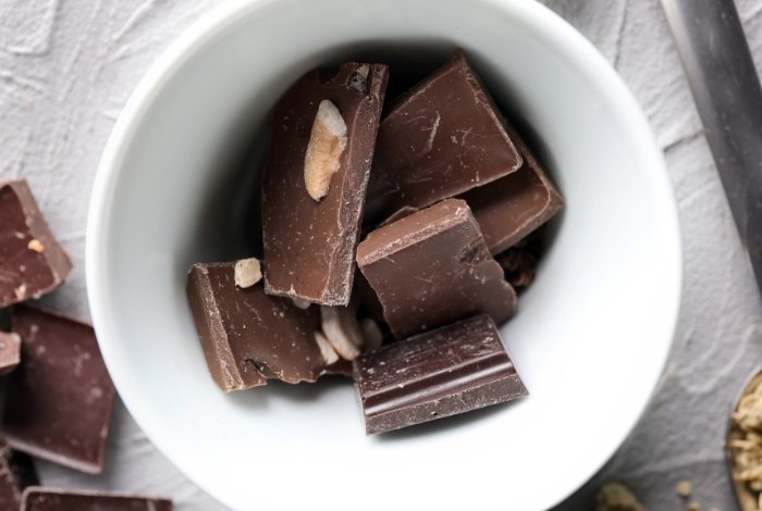 Step 1 - Chocolate in a bowl