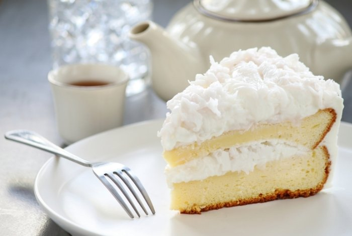 Pineapple Coconut Cake with Mousse Filling Recipe from Scratch