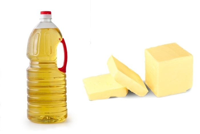 Butter and vegetable oil