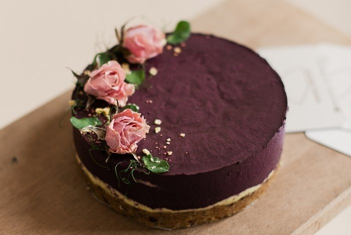 Making Dark Purple Frosting with Chocolate Buttercream