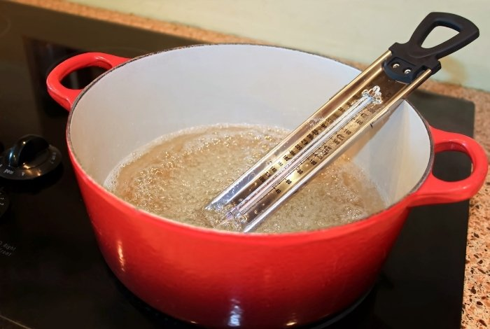 Use a Candy Thermometer to Monitor the Mix