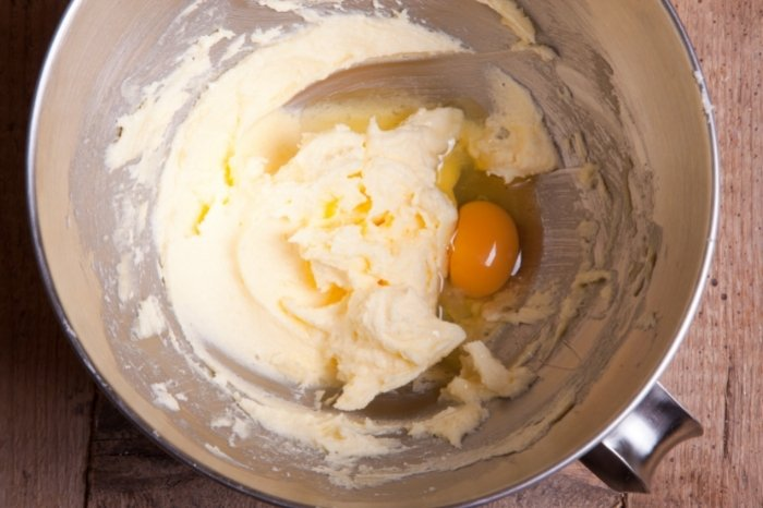 Butter, sugar and eggs
