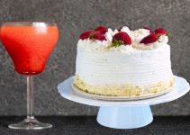 Strawberry Margarita Cake With Tequila Buttercream Frosting