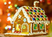 Beautiful Gingerbread House Stained Glass Windows
